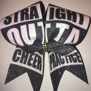 Other - Straight outta cheer practice cheer bow
